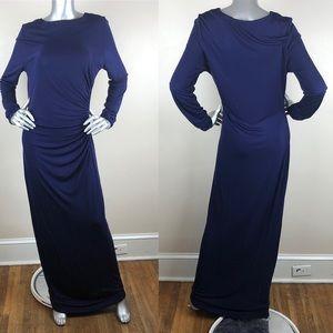 LK BENNETT Navy Blue Gown Long Sleeve Dress